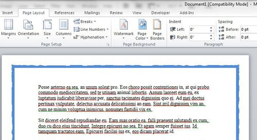 sample of page borders for Microsoft Word