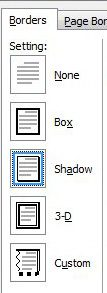 paragraph borders for word documents - settings option