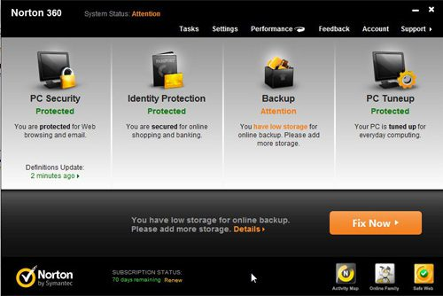 launch norton 360 to configure norton 360 firewall settings