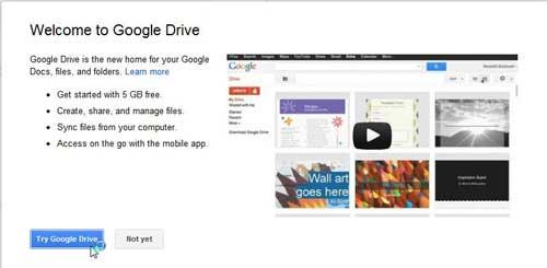 try out your google drive