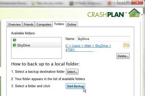 how to backup to skydrive from windows