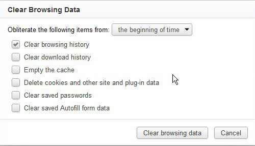 clear your chrome history