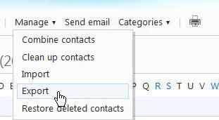 export contacts from hotmail to outlook 2010