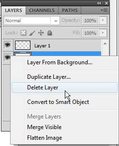 how to make a transparent background in photoshop cs5