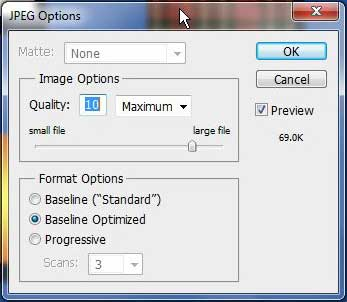 click OK to complete the how to convert psd to jpeg in photoshop cs5 process