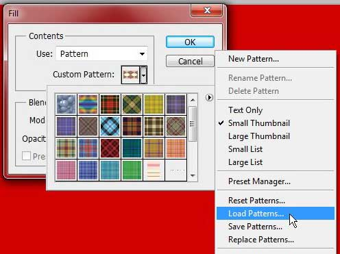 how to add a pattern to photoshop cs5