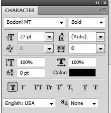 how to change text font in photoshop cs5