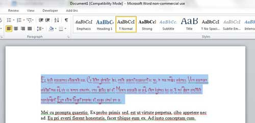 how to clear all text formatting in word 2010