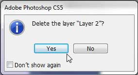 confirm layer dleetion