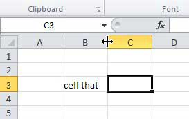 double click cell divider to resize a cell