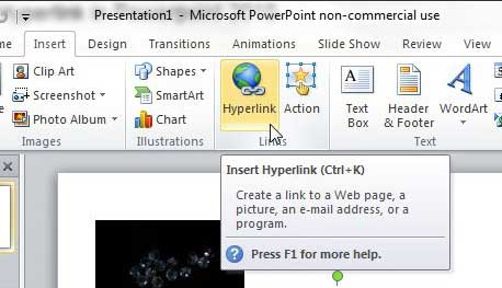 how to create link powerpoint