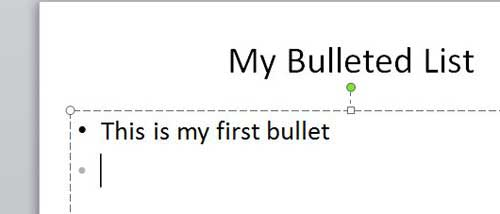 create your bullets