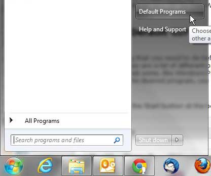 windows 7 default programs