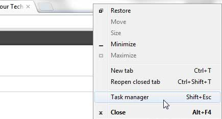 how to open the google chrome task manager