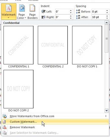 how to add pictures behind your word document