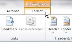 design tools format tab