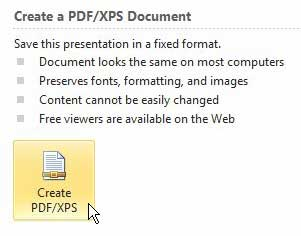 how to turn a powerpoint presentation into a pdf