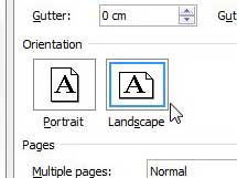 how to change 1 page in word document to landscape