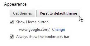 how do you get rid of themes in google chrome