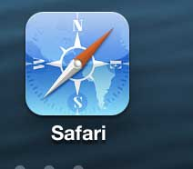 launch the iphone 5 safari browser app