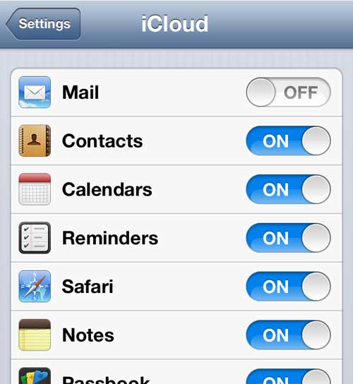 turn on the notes and reminders options