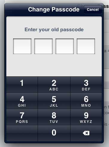 how to change your passcode on iphone 6