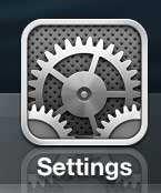 Open the iPhone's Settings menu
