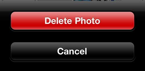 "Tap the ""Delete Photo"" button"