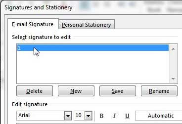 how to add signature to outlook 2013