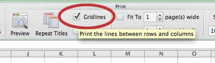 check the gridlines option