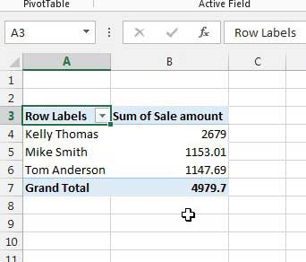 how to create a pivot table in excel 2013