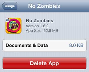how to delete an app that wont show up