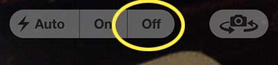 how to turn off the camera flash on the iphone 5