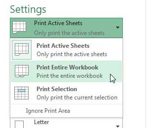 how to print worksheets on their own page in excel 2013