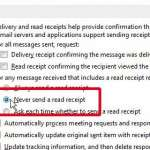 how to turn off read receipts in outlook 2013