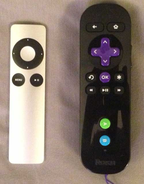 roku 3 remote size comparison