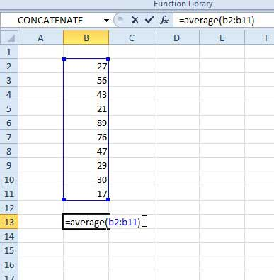 Average if formula in excel 2010