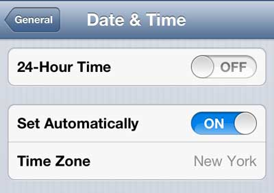 how to set up the right time on your phone