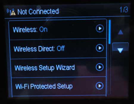 select the wireless setup wizard option