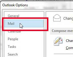 select the mail option