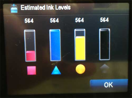 how to check ink levels on photosmart 6510