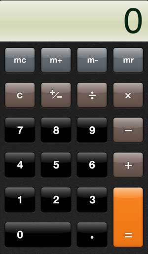 how to find the iphone 5 calculator