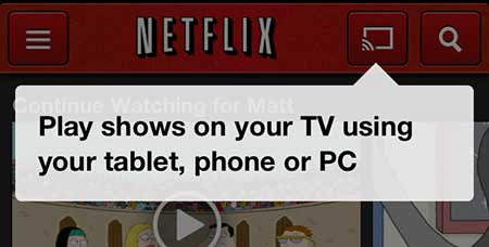 how to watch netflix with chromecast from an iphone 5