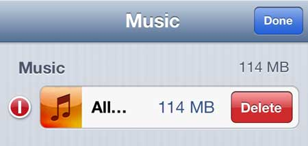 iphone how to delete all songs