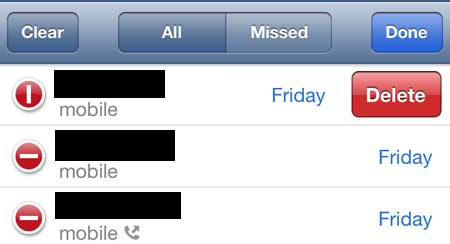 how to delete numbers on iphone 5