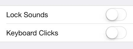 how to turn off keyboard sounds in ios 7 on iphone 5