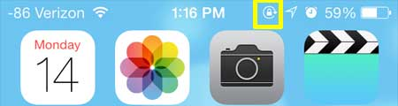 how to lock portrait orientation in ios 7 on the iphone 5