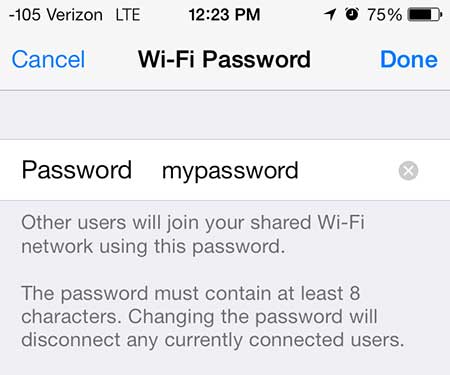how to find hotspot password