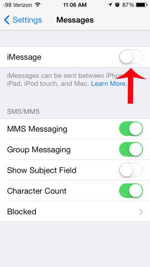 how to delete messages off imessage