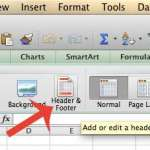 how to insert a header in excel 2011